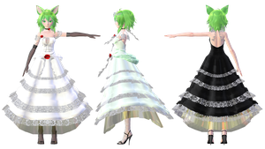 TDA Gumi Lace Dress Ver2.5 DL Models by HestiaSama