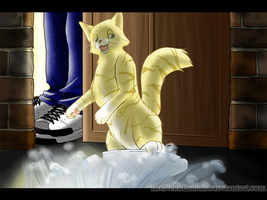 Gift: Surfin' the Alleyway by TheNekoHufflepuff