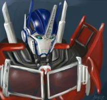 Sad Optimus by Akyuatron