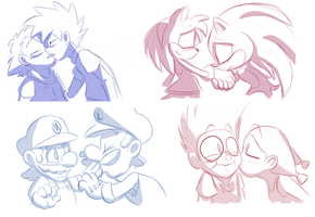 Kiss Meme Set 1 by faster-by-choice