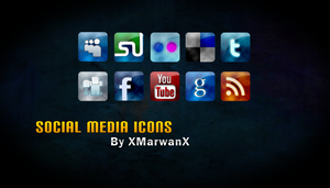 Social Media Icons by XMarwanX