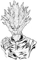 I Am Groot black and white lineart by BigDogsStudio