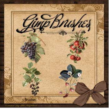 GIMP Brushes | Fruit Brushes by TheAngeldove