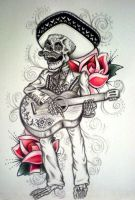Day of the Dead Mariachi Tattoo by DesertDahlia
