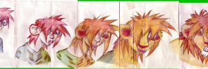 Man to Lion sequence scetch by GrandStorm