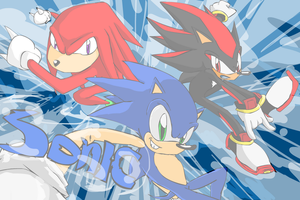 Sonic Rushing Team by bluefighter91
