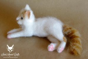 Needle felted cat - profile by SaniAmaniCrafts