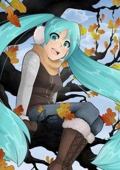 Autumn Miku by Jannzky