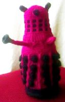 Hot Pink Dalek by MidknightStarr