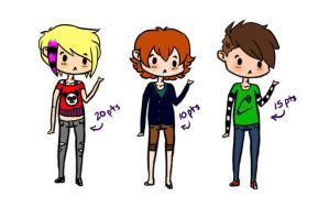 [CLOSED] Adoptable Boys - POINTS by FreckleLemonade