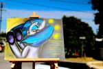 Vinyl Scratch Pastel Painting The Sun by FrenchyToastyy