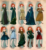 Merida in 20th century fashion by BasakTinli by BasakTinli