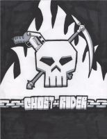 Ghost Rider Logo- Markers by Cutter9792