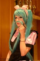 Vocaloid - Hatsune Miku B close up by DISC-Photography