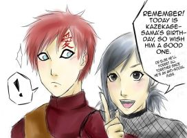 HAPPY BIRTHDAY GAARA by Fuon-Shiheki