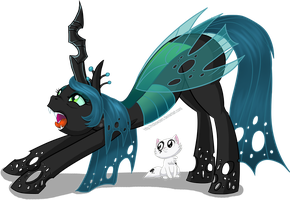 Day 20 - Chrysalis and Kitty by hollowzero