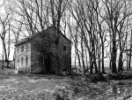 Old Stone Farmhouse Black and White 03 by TemariAtaje