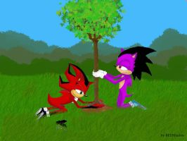 Aux arbres hedgies by redshadow-online