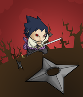 Sasuke Chibi Attack by RedKnight91