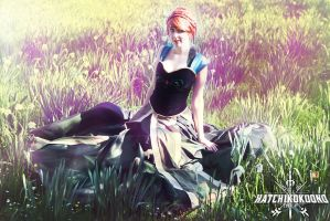 Frozen: Spring, Flowers and Anna by Hatchikokoono