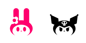 My Melody and Kuromi icons by supercomputer276