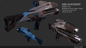 Mass Effect M8-Avenger Lowpoly by Daedalus51