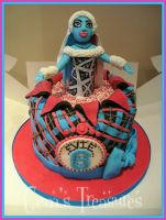 Monster High Cake by gertygetsgangster