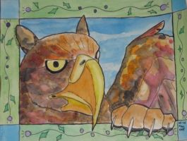 Griffin Head by Vampiric-Conure