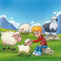 A Day With Snowy the Lamb by Bezende