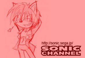 Sasha Male Sonic channel-PC by NinjaHaku21