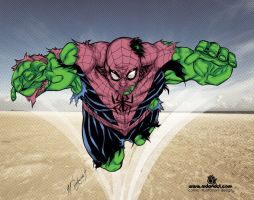 Spider-HULK by mdavidct