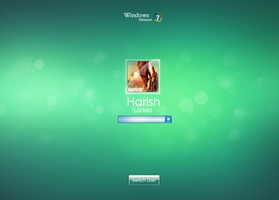 Windows 7 New logon screen by harish by harish32150