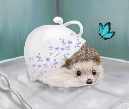 Blue China Hedgehog by hannxm