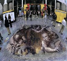 3D illusions: emergence of the sub-hearth by Man-Of-World
