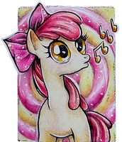 Apple Bloom ACEO by LittlePonyPrincess