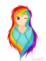 Human Rainbow Dash by A-Simple-Smile