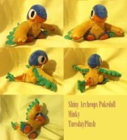 Shiny Archeops Pokedoll by Glacdeas