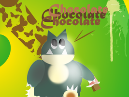 munchlax eating chocolate by leoncilo99