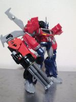 Transformers prime BH optimus prime gatling gun by QuantumMorality