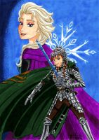 ItsotQ: the dragon knight of Arendelle by shishiyoukai