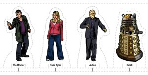New Series Doctor Who Weetabix-style Card Figures by shakeyspear