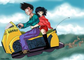 Goten's date by Oolong-sama