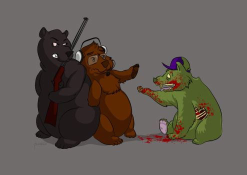 Commish: Three Angry Bears by plooshkin