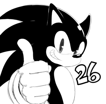 Sonic 26th by ss2sonic