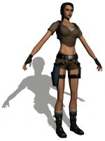 Lara Croft in Maya by Ryu-Gi