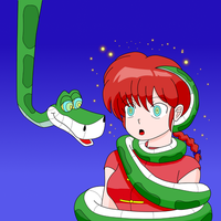 Female Ranma X Kaa by MegatronMan