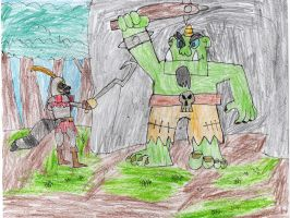 Sir Galleth Cooper vs the ogre by trexking45