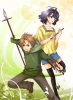 Shinken Green and Yellow by M-azuma