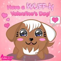 Have a Wuffly V-day! by atnezau