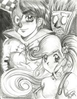 Coco and N Gin (Human version) by Avril-TRON-LuKon